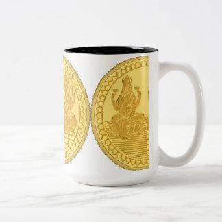 金GANESHおよびLAKSHMIのマグ ツートーンマグカップ