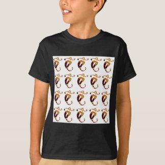 金GOODLUCKの宝石のプリントパターンフェスティバルのおもしろい Tシャツ