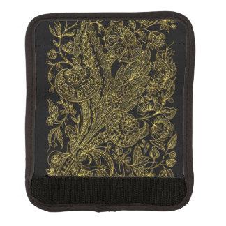 金inlayedスタイルの花模様 ラゲッジ ハンドルラップ