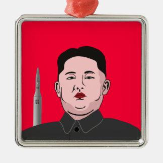 金Jong国連及び核弾頭ミサイル メタルオーナメント