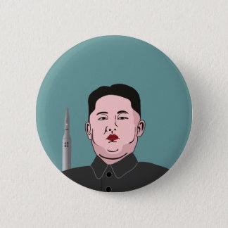 金Jong国連及び核弾頭ミサイル 缶バッジ