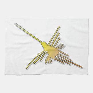 金Nazcaはハチドリを並べます キッチンタオル