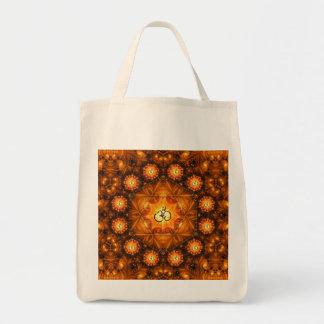 金Omのフラクタルのオーガニックな買い物袋 トートバッグ