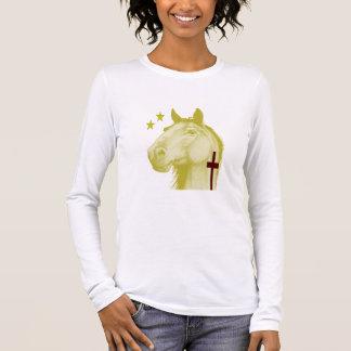 金Palaminoの馬W/Crossの~の女性長袖 Tシャツ