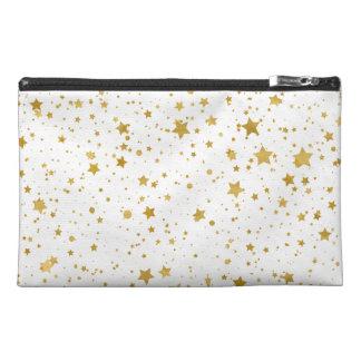金Stars2 -純粋な白 トラベルアクセサリーバッグ