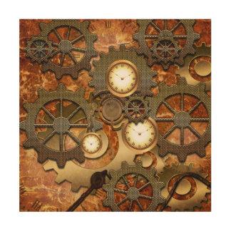 金steampunk ウッドウォールアート