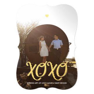 金XOXO |のバレンタインデーの写真カード カード
