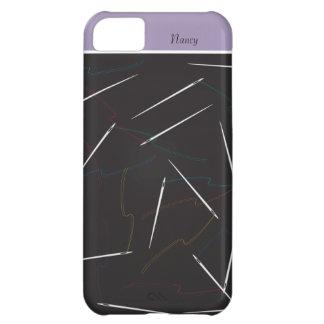 針および糸のiPhone 5の縫う場合 iPhone5Cケース