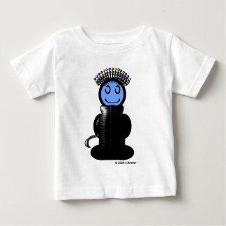 針差しの頭部(明白な) ベビーTシャツ