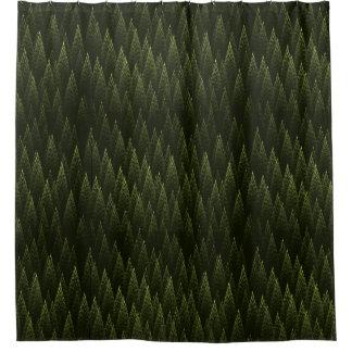 針葉樹 シャワーカーテン