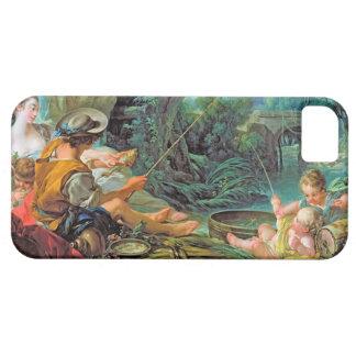 釣り人のBoucher Francoisのロココ様式の背景画 iPhone SE/5/5s ケース