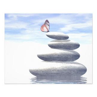 釣り合った石に蝶 チラシ