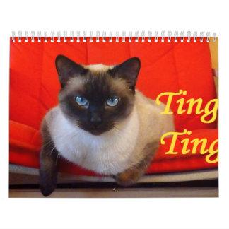 鈴の音の鈴の音シャム猫 カレンダー