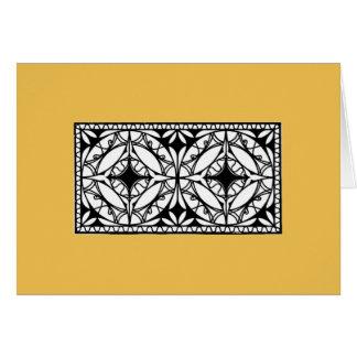 鉄のグリルのデザイン1912年; 現代主義のスタイル カード