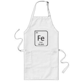 鉄のシェフのエプロン、Feの要素 ロングエプロン
