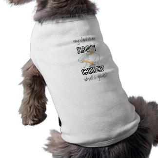 鉄のシェフのパパの小犬のティー ペット服