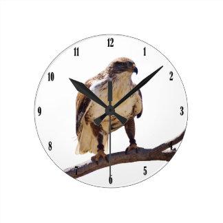 鉄のタカ ラウンド壁時計