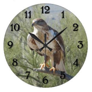 鉄のタカ ラージ壁時計