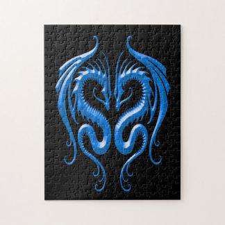 鉄のドラゴン、青および黒 ジグソーパズル
