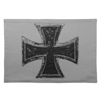 鉄の十字の布のランチョンマット ランチョンマット