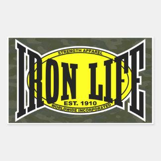 鉄の生命迷彩柄 長方形シール