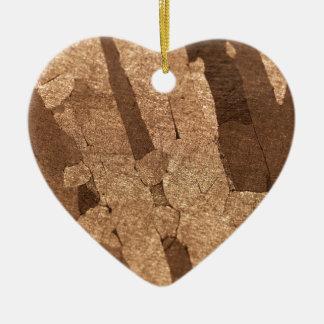 鉄の隕石のマクロ写真 セラミックオーナメント