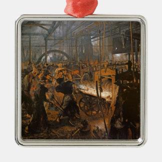 鉄圧延の製造所1875年 メタルオーナメント