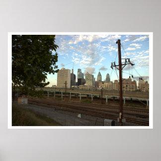 鉄道およびフィラデルヒィアのスカイライン ポスター
