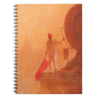 鉄道の旗の人アグラ2010年 ノートブック