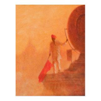 鉄道の旗の人アグラ2010年 ポストカード