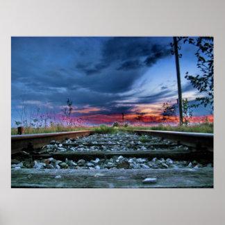 鉄道上のすばらしい空 ポスター