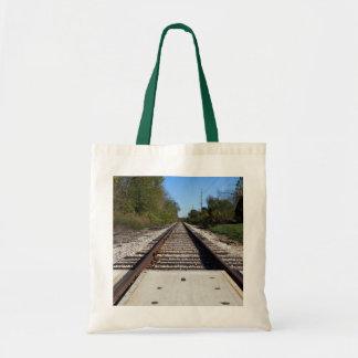 鉄道列車は写真を追跡します トートバッグ