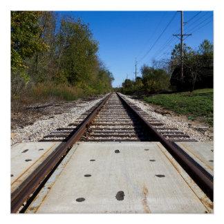 鉄道列車は写真を追跡します ポスター