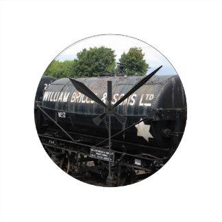 鉄道場面-タンカー-ヴィンテージ ラウンド壁時計