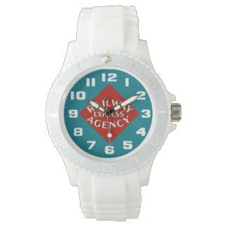 鉄道明白な代理店の女性 腕時計