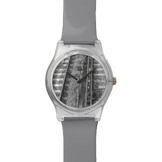 鉄道線路映像 腕時計