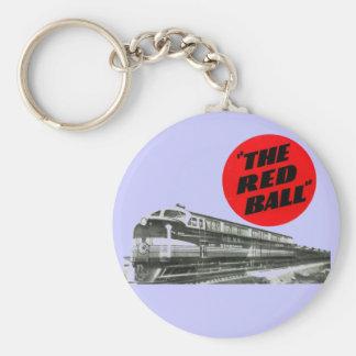 鉄道赤い球の急行列車 キーホルダー