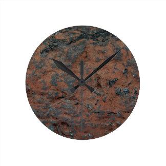 鉄鋼の赤鉄鉱 ラウンド壁時計