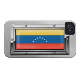 鉄骨フレームのベネズエラの旗 Case-Mate iPhone 4 ケース