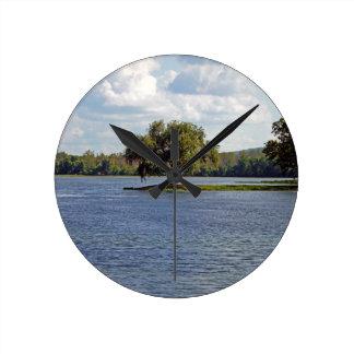 鉄mountain湖 ラウンド壁時計