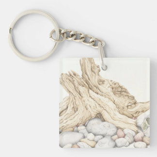 鉛筆のアクリルのキーホルダーの流木及び小石 キーホルダー