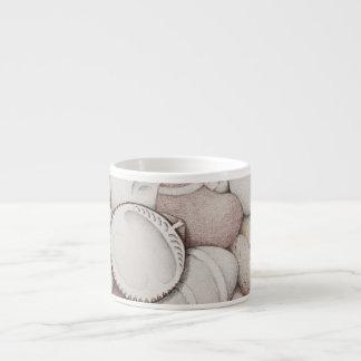 鉛筆のエスプレッソのマグのドクムギの貝及び小石 エスプレッソカップ