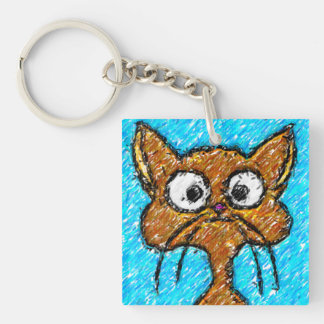 鉛筆のクレヨンの子猫 キーホルダー