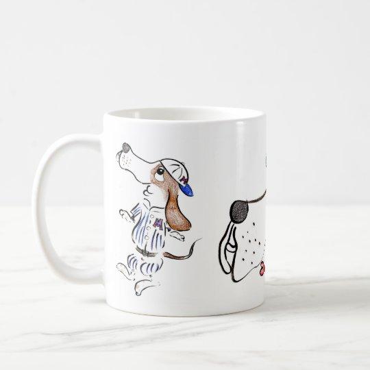 鉛筆イラスト★バセットハウンド★マグカップ コーヒーマグカップ