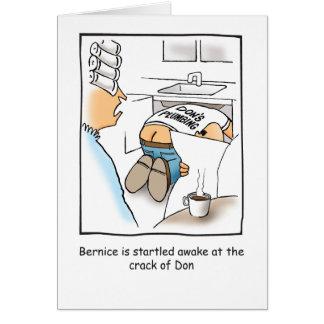 鉛管工のユーモアのあるなバースデー・カード カード