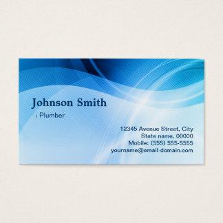 鉛管工-モダンで青いクリエイティブ 名刺