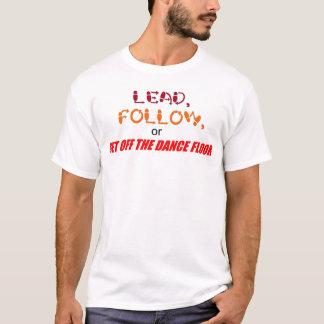 """""""鉛""""、は合われたTシャツを後を追います Tシャツ"""