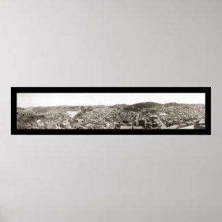 鉛SDのパノラマの写真1901年 ポスター
