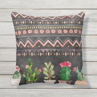 鉢植えなSucculentsのリバーシブルの屋外の枕 クッション