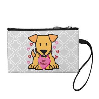 鉱山のハートのバレンタインの小犬のラブラドールのピンクがあって下さい コインパース